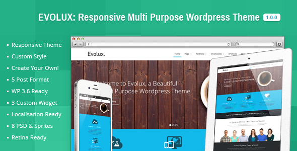 ThemeForest Evolux Responsive Multi-Purpose Wordpress Theme 5299479