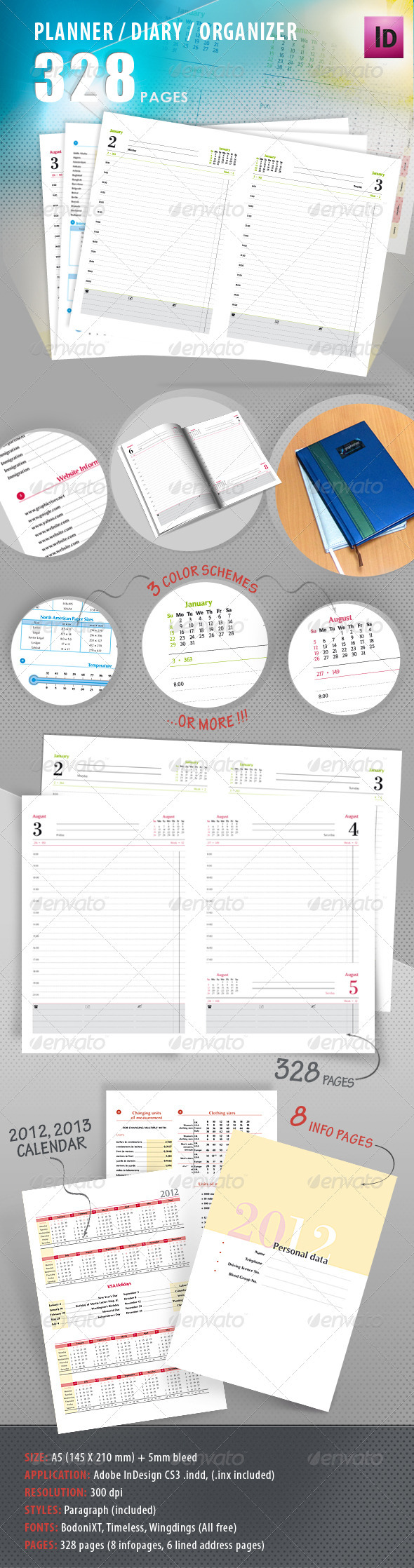 GraphicRiver Planner Diary Organizer 546336