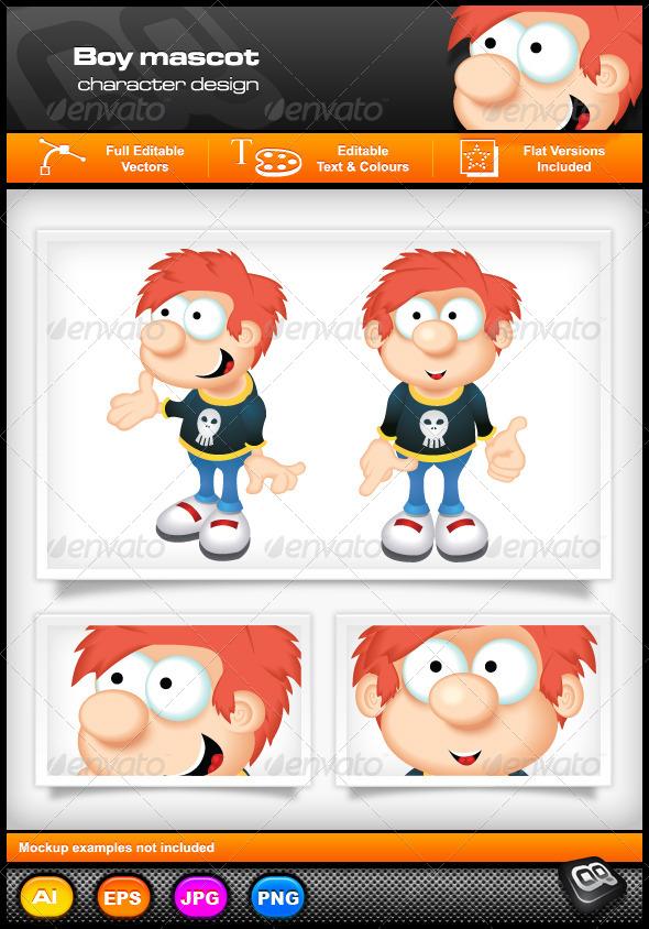 GraphicRiver Boy Mascot 5295762