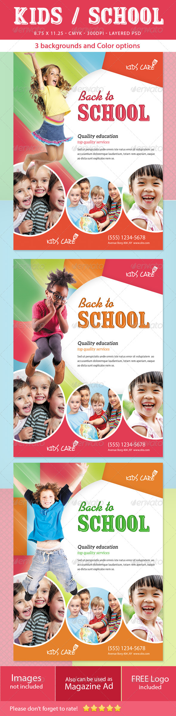 Kids School Flyer