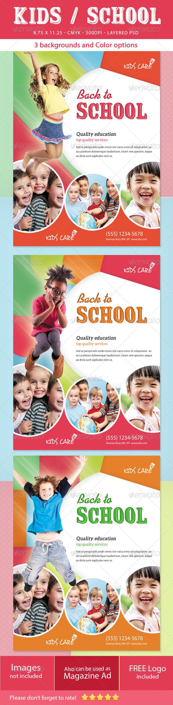 GraphicRiver Kids School Flyer 5303649