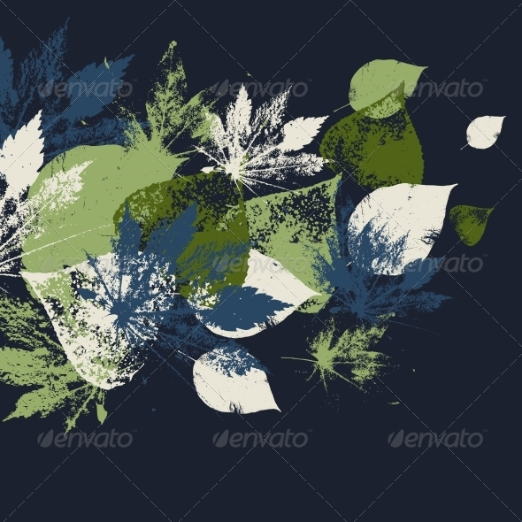 GraphicRiver Abstract Pattern with Leaves 5304035