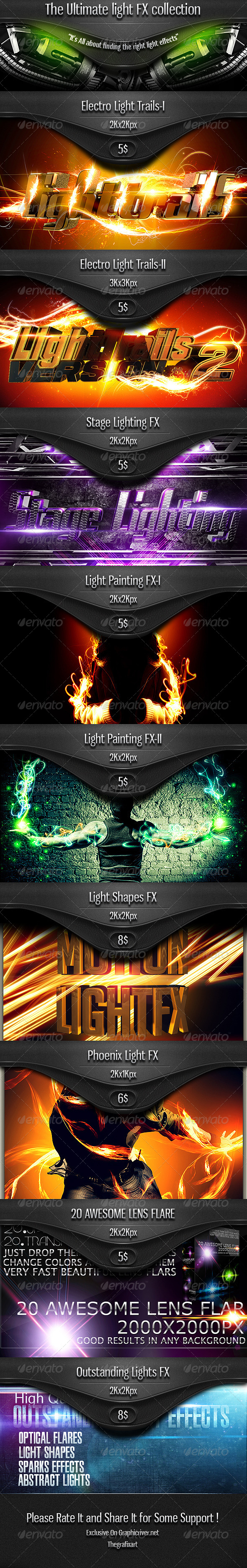 GraphicRiver The Ultimate Light Effects Collection [THE BUNDLE] 5304180