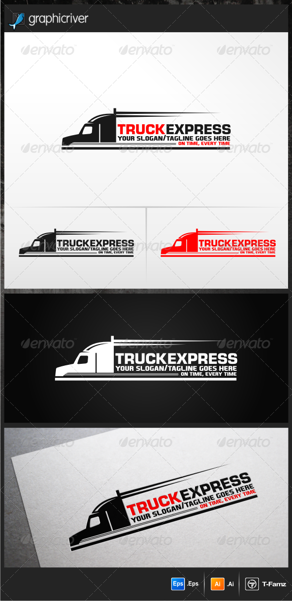 GraphicRiver Truck Express Logo Templates 5275768