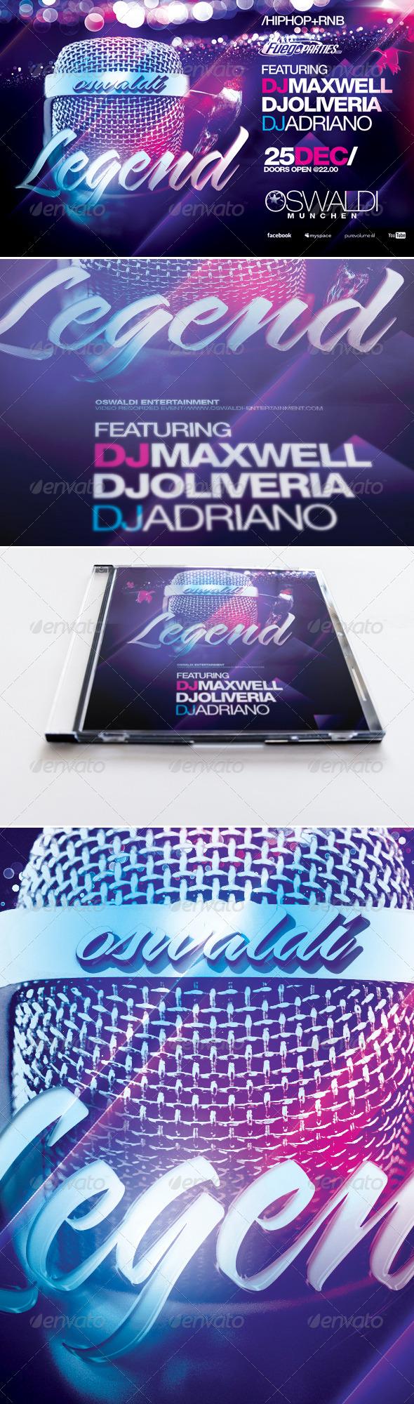 GraphicRiver Legend Flyer & Mixtape Cover 5237275