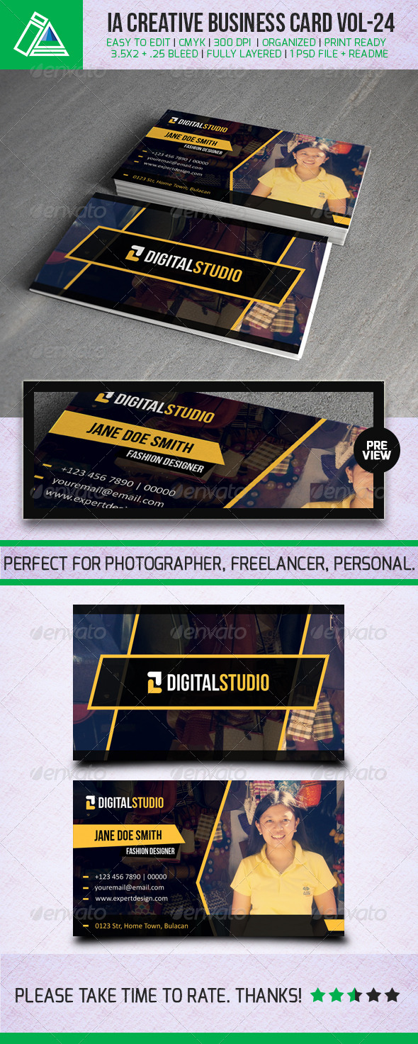 GraphicRiver IntenseArtisan Business Card Vol.24 5304910