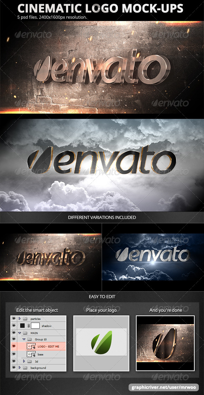 GraphicRiver Cinematic Logo Mock-ups 5305694