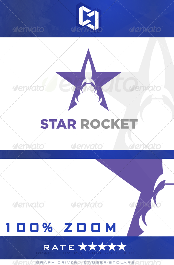 GraphicRiver Star Rocket Logo 5284944