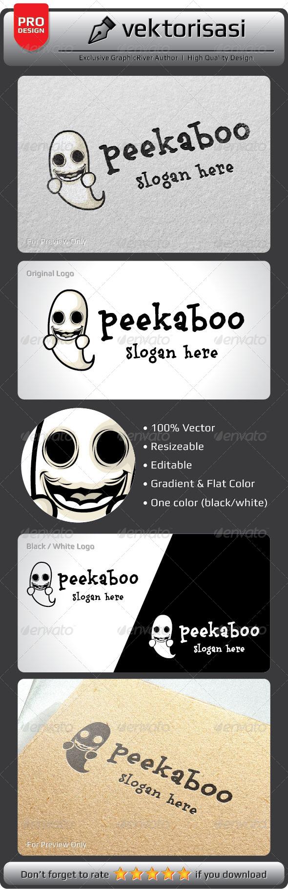 GraphicRiver Peekaboo Logo 5305841
