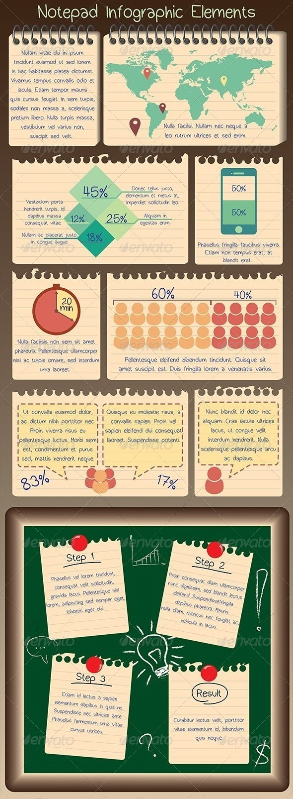 GraphicRiver Notepad Infographic Elements 5305846