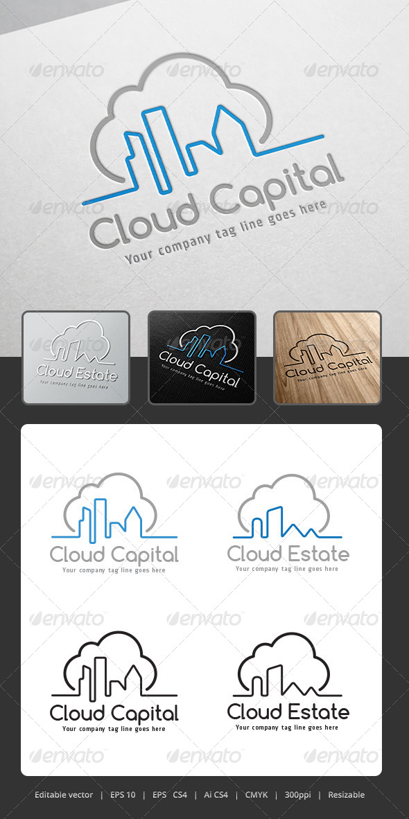 GraphicRiver Cloud Capital Logo 5306021