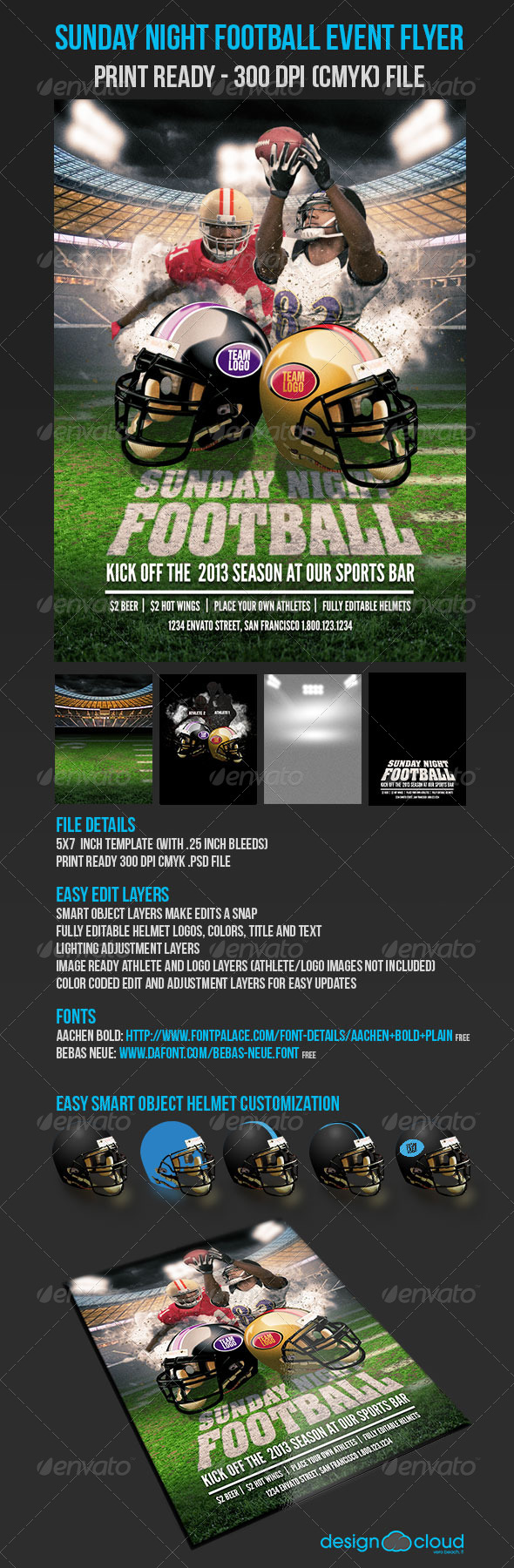 GraphicRiver Sunday Night Football Flyer 5249888