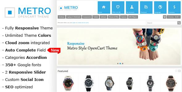 Metro - Multi-Purpose Responsive OpenCart Theme - OpenCart eCommerce
