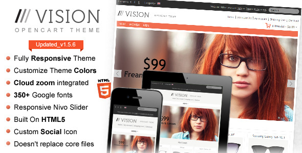 Vision - Responsive OpenCart Theme