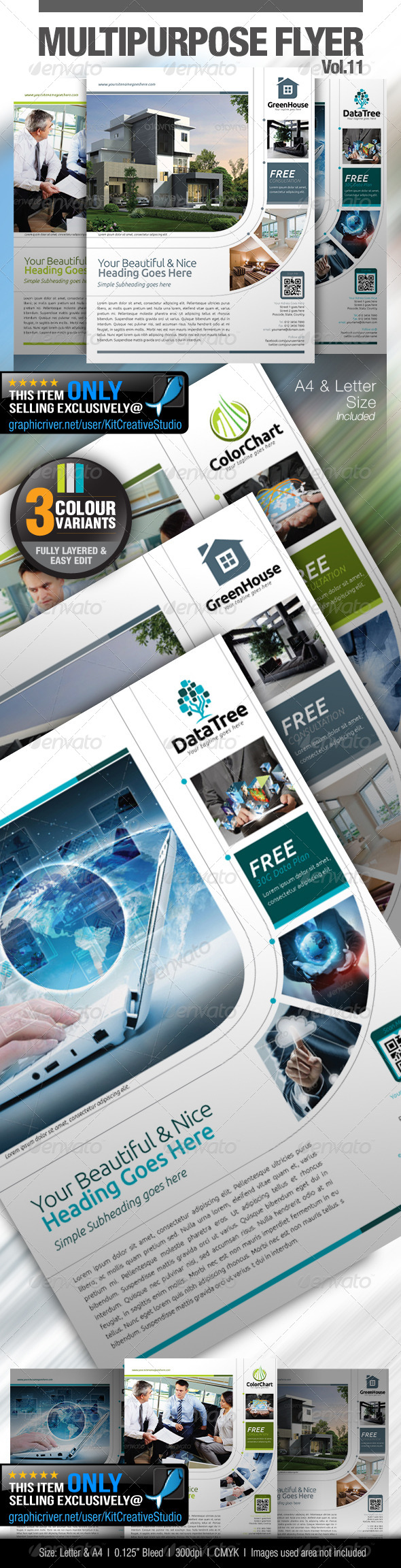 GraphicRiver Multipurpose Business Flyer Vol.11 5306316