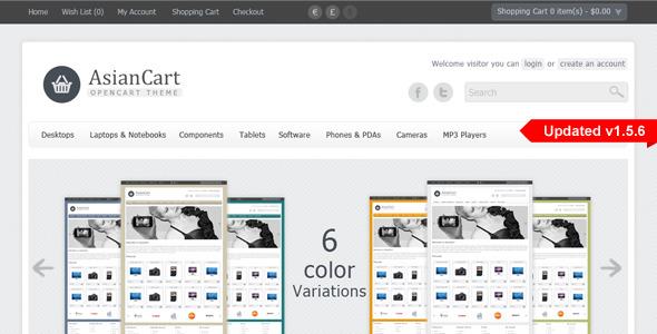 AsianCart Premium Opencart Theme
