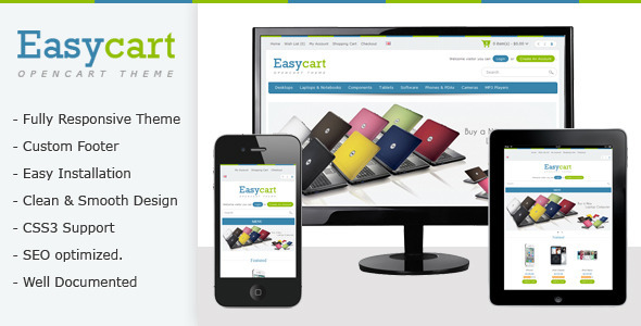 Easycart Responsive and Clean OpenCart Theme