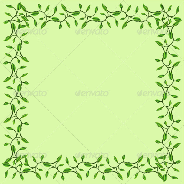 Olive Branches Decorative Frame