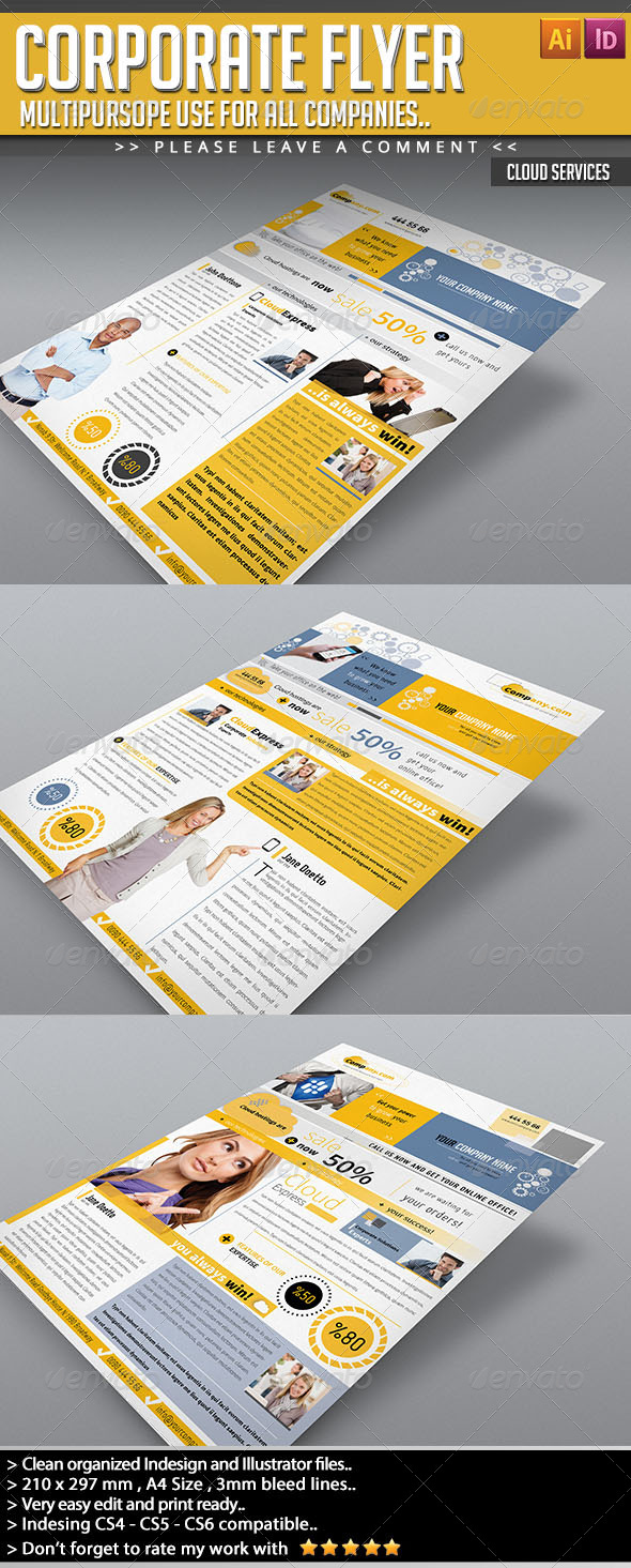 GraphicRiver Corporate Flyer Cloud Services 5306967