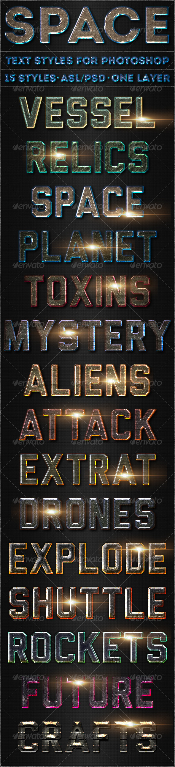 GraphicRiver Space Text Styles 5307163