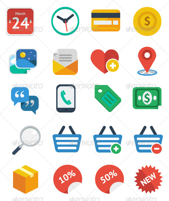 Check out 20 Flat eCommerce Icon Set!