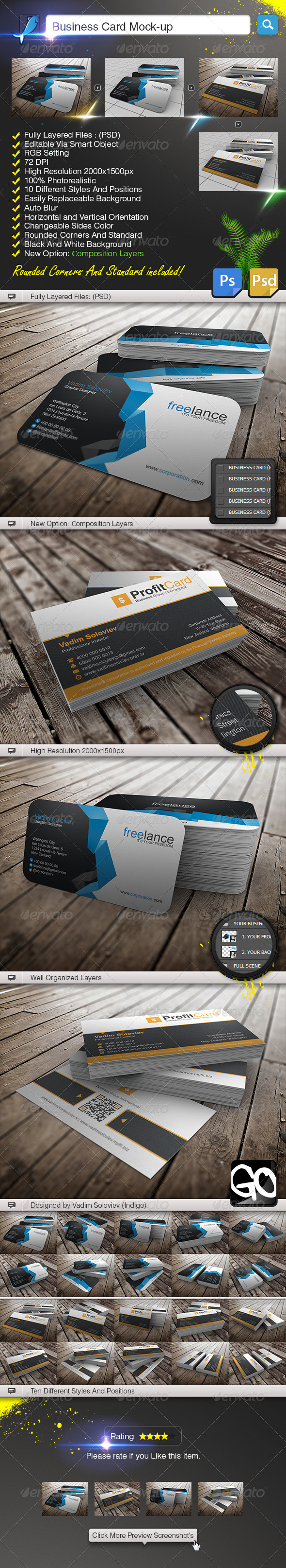 GraphicRiver Business Card Mock-Up 5307323