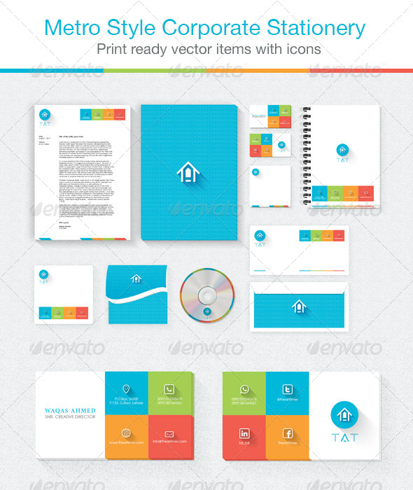 GraphicRiver Corporate Stationery Metro Style 5307340