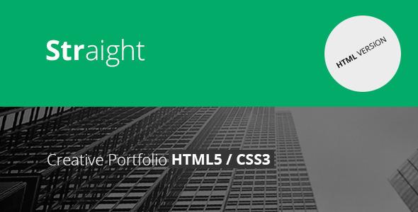Straight - Creative Flat HTML Template - Portfolio Creative