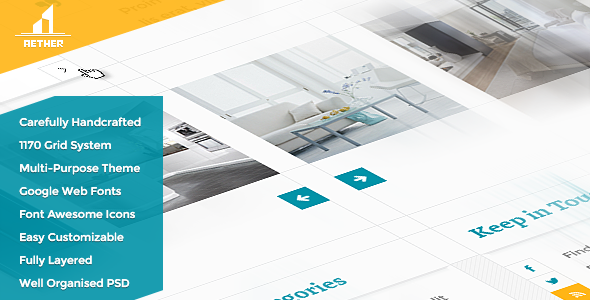 ThemeForest Aether Simple & Clean Multi-Purpose Theme 5262391