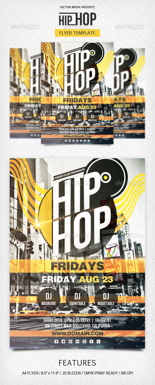 GraphicRiver Hip Hop Flyer 5307829