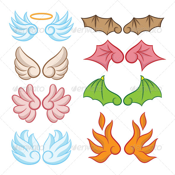 GraphicRiver Wings Collections 5308152