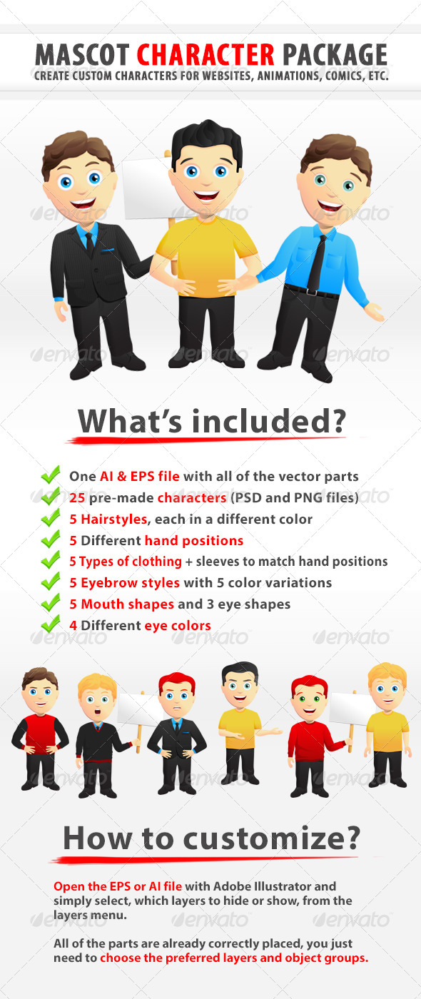 GraphicRiver Custom Mascot Character Creation Kit 5306976