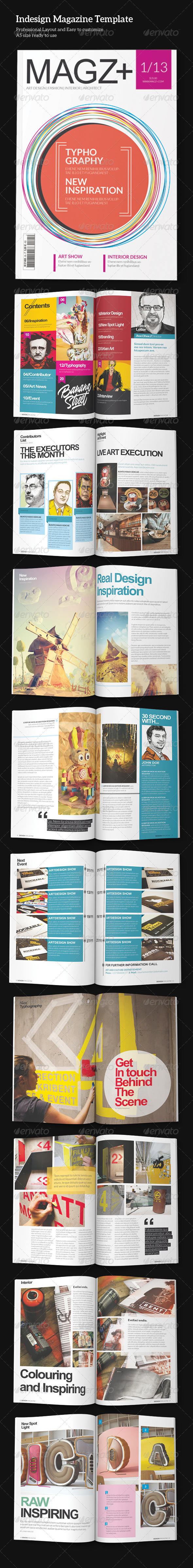 GraphicRiver Indesign Magazine Template 5308224