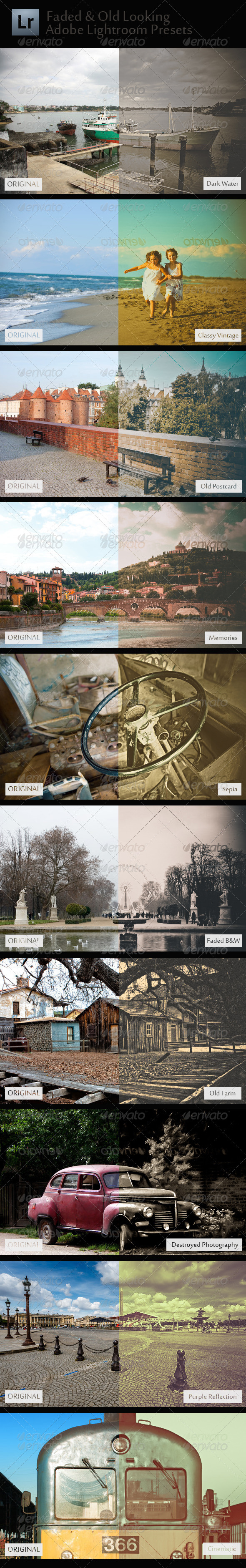 GraphicRiver 10 Faded & Old Looking Adobe Lightroom Presets 5309267