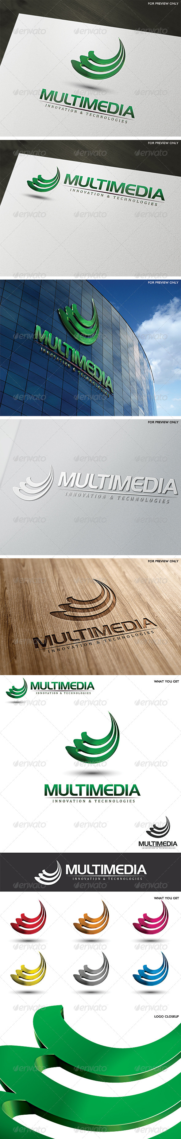 3D Multimedia Logo Template - 3d Abstract