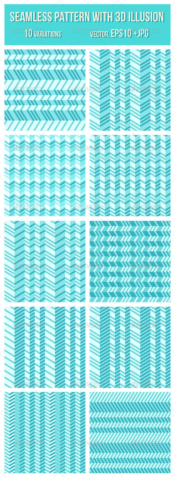 GraphicRiver Geometrical Seamless Pattern with 3D Illusion 4484098