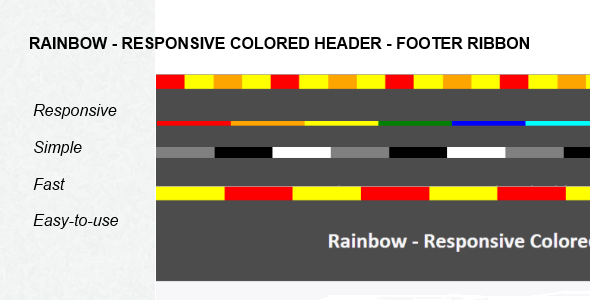 CodeCanyon Responsive Colored Header Footer Ribbon 5309625