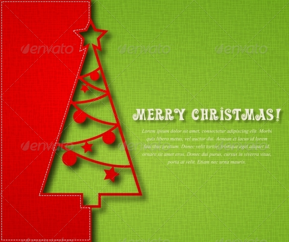 GraphicRiver Christmas Tree Background 5309630