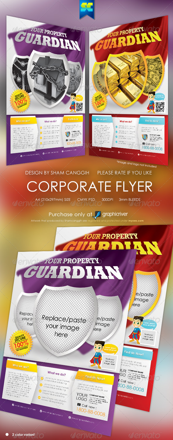 GraphicRiver Clean Security And Insurance Modern Flyer 5309747