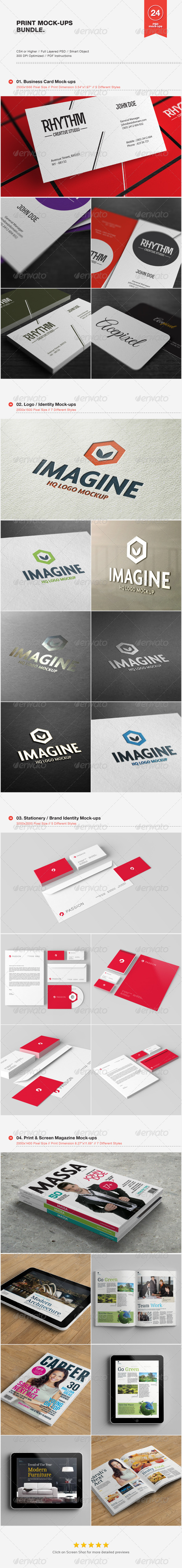 Print Mock-ups Bundle - Print Product Mock-Ups