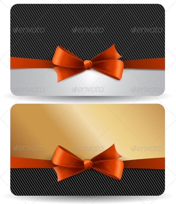 GraphicRiver Holiday Gift Card with Red Ribbons and Bow 5310007
