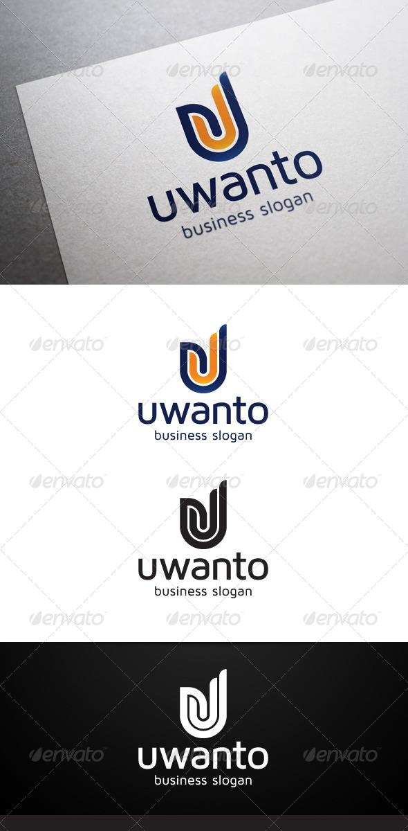 GraphicRiver Uwanto U Letter Logo 5310022