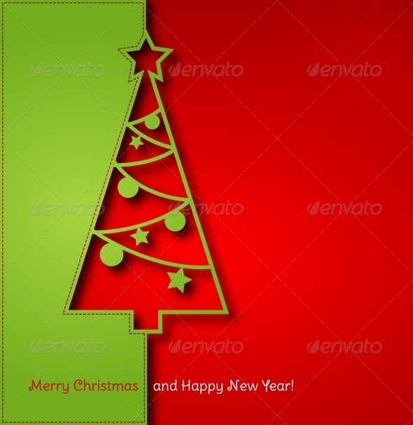 GraphicRiver Christmas Tree Background 5310202