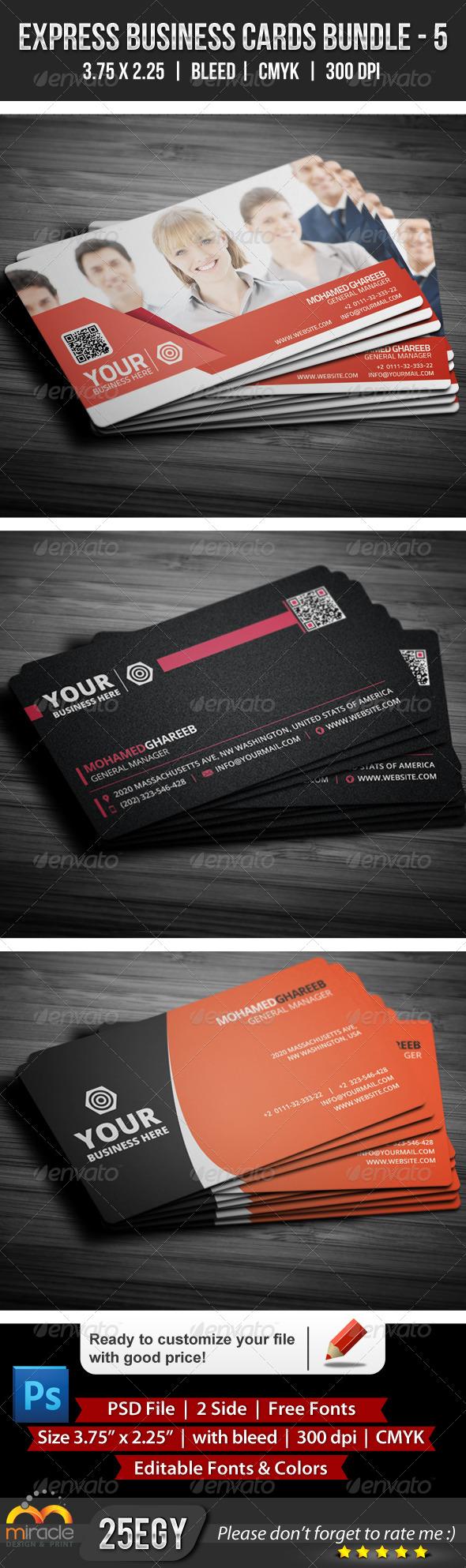 Express Business Cards Bundle 5