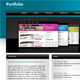 Portfolio theme Blue - ThemeForest Item for Sale