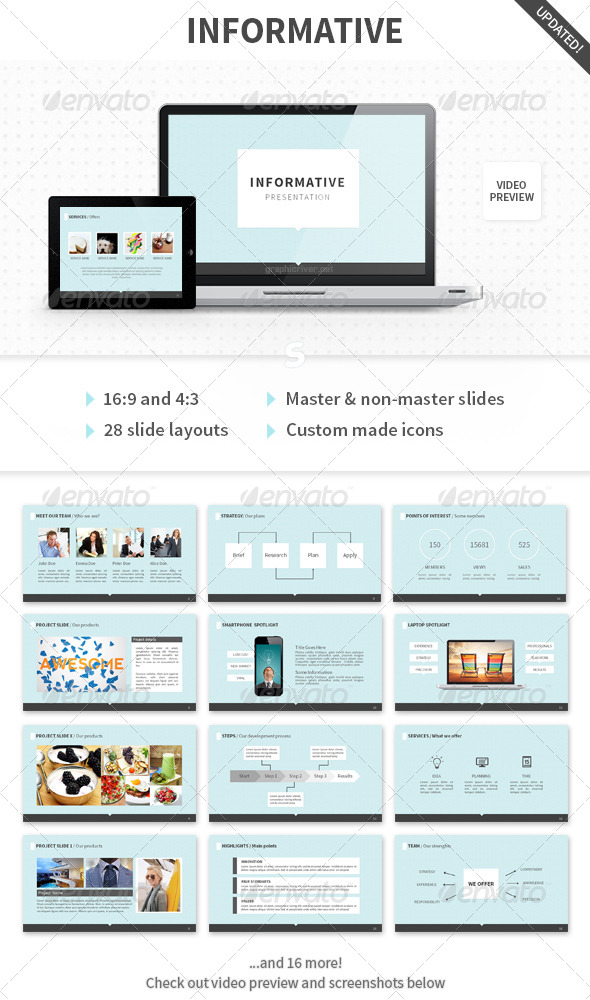 Informative PowerPoint Template - Presentation Templates