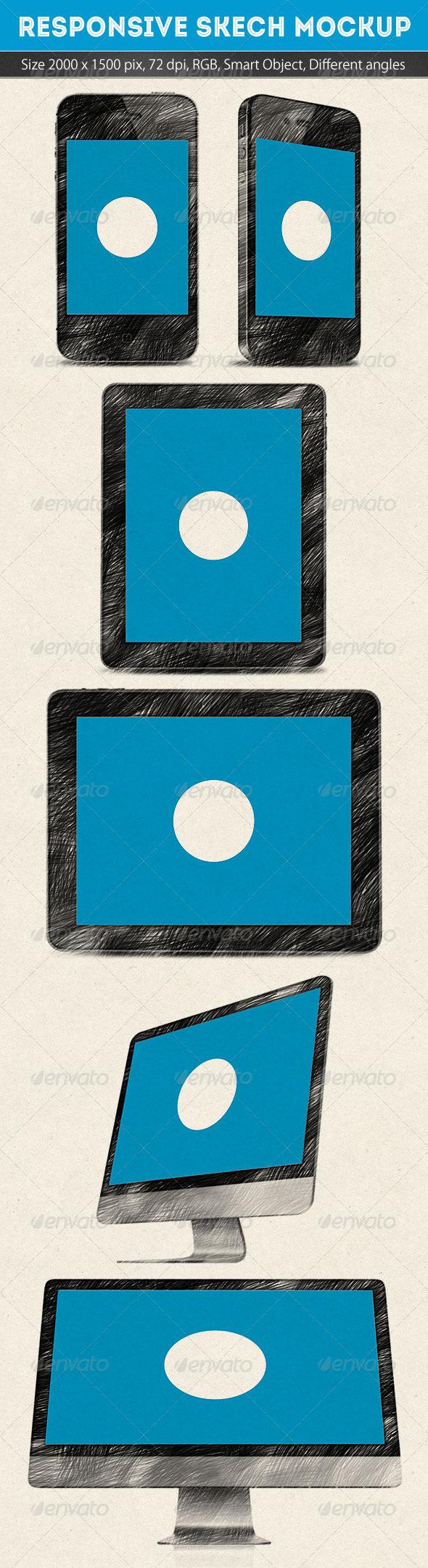 GraphicRiver Responsive Skech Mockup 5310471