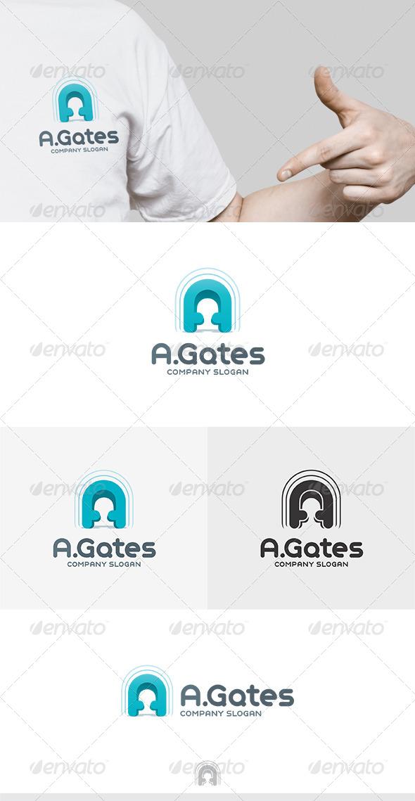 A Gates Logo - Letters Logo Templates