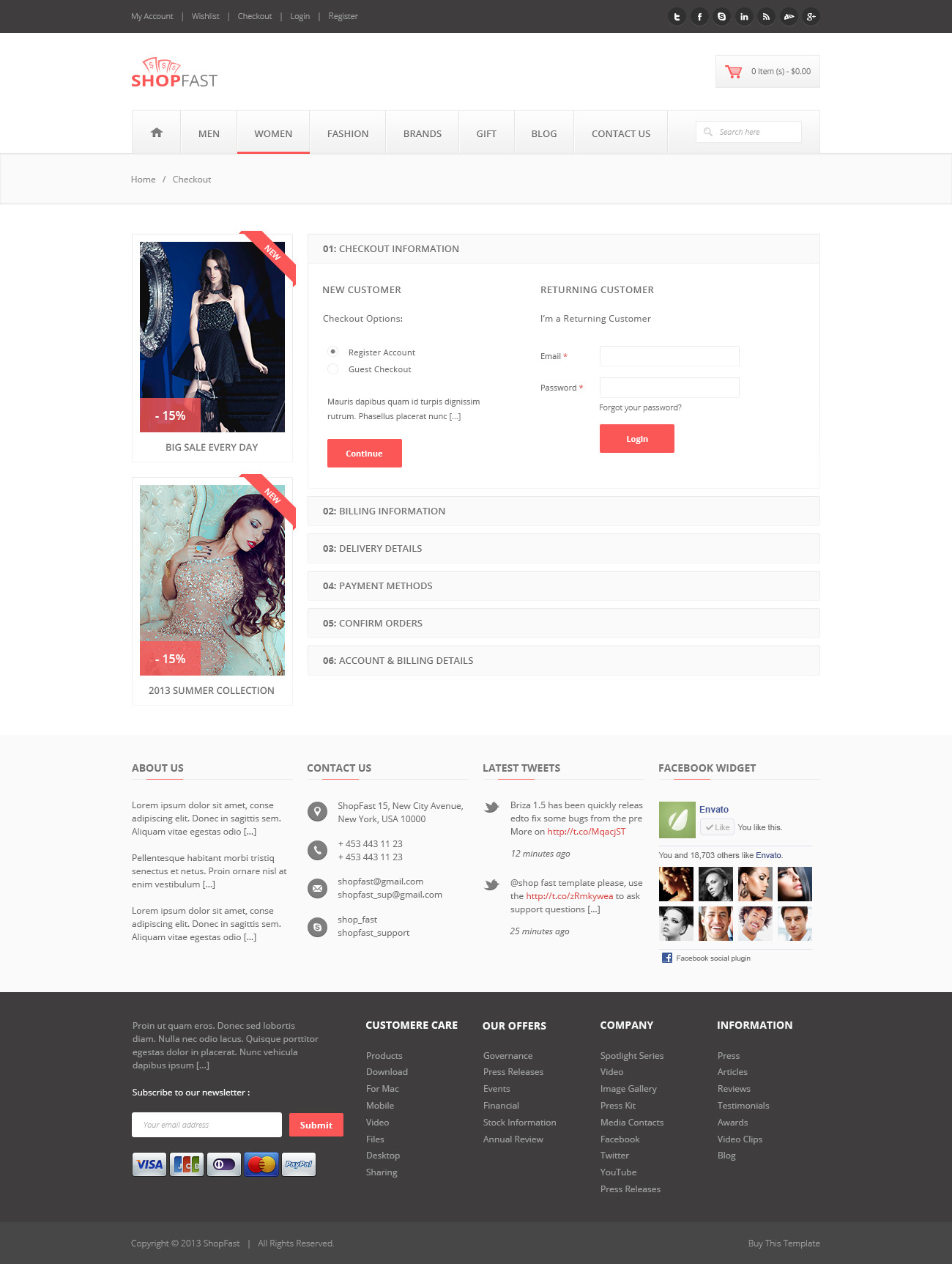 ShopFast - Modern Ecommerce PSD Template