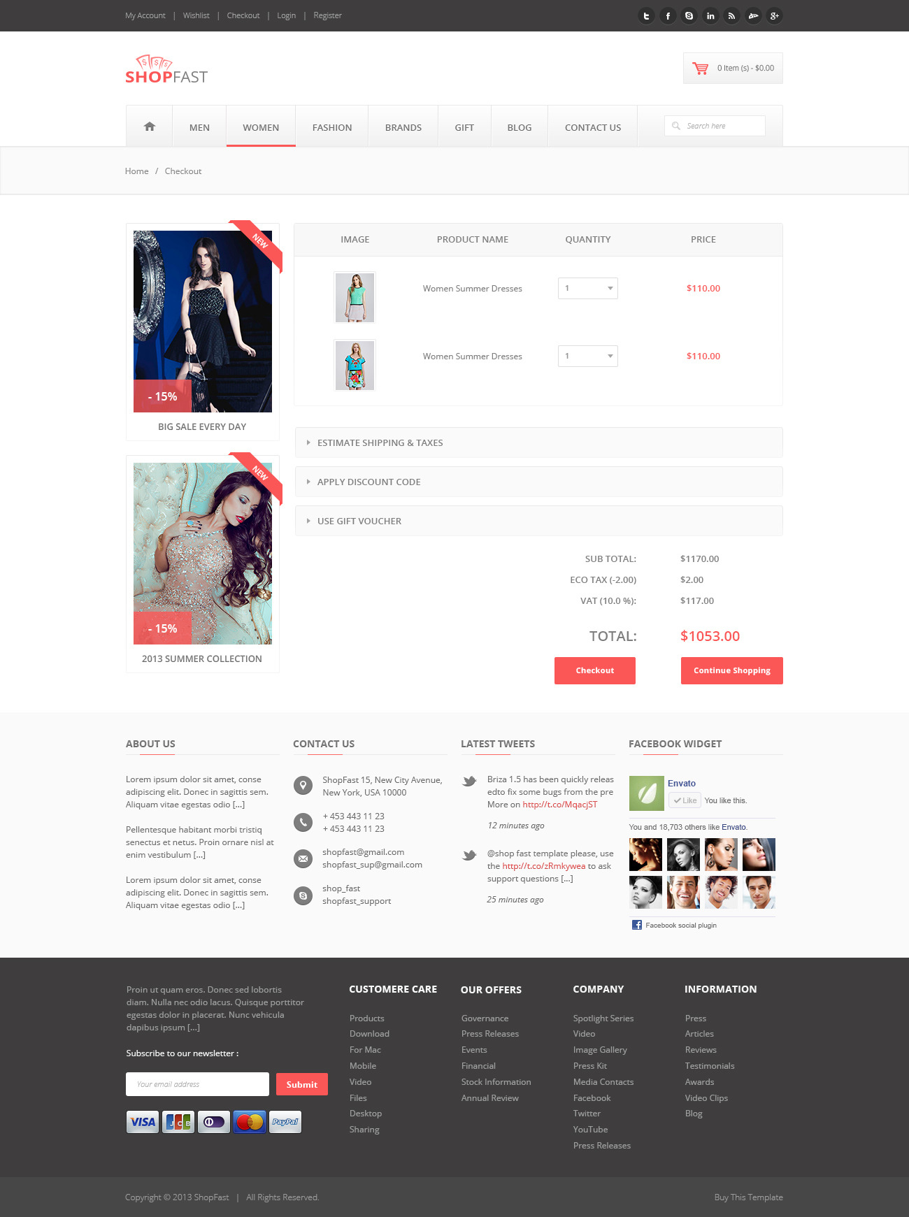 ShopFast - Modern Ecommerce PSD Template